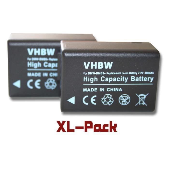 2 batteries de secours pour Panasonic Lumix DMC-FZ40, DMC-FZ45, DMC-FZ47, DMC-FZ48, DMC-FZ100, DMC-FZ150, DMC-FZ72 - Remplace : P…