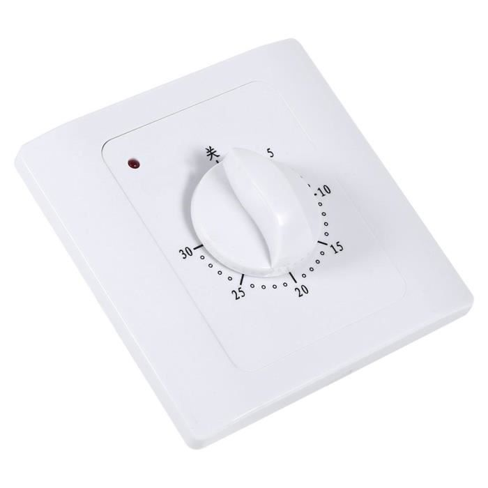 Prise de minuterie-1 pc AC 220V 10A 30Min compte /à rebours /électronique prise de temps num/érique prise de commande de commutateur de minuterie utilis/ée pour contr/ôler les pompes /à eau et les appareils