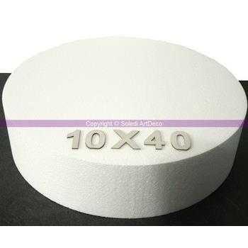 Support à décorer Disque polystyrène épaisseur 10 cm, 7 diam au choi