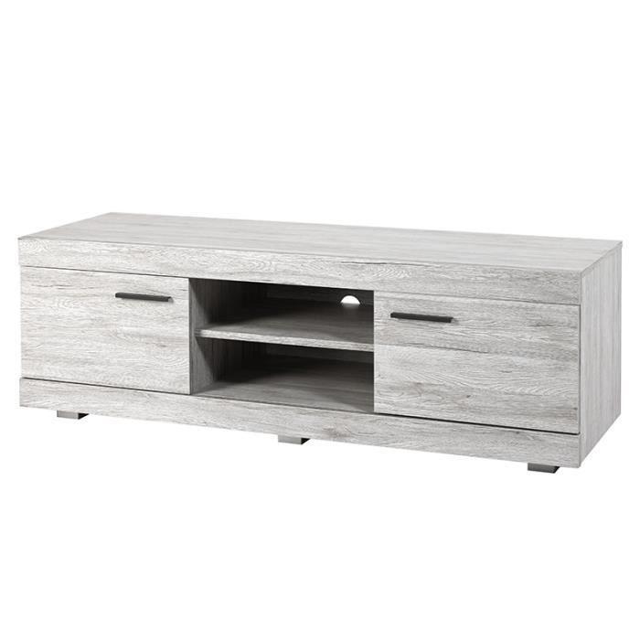 meuble tele contemporain couleur chene gris lady l