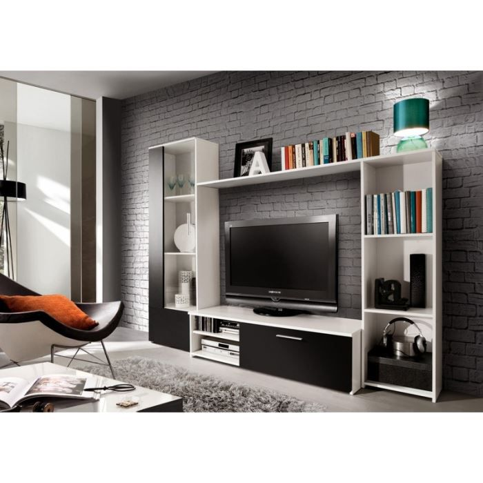 ensemble meuble tv mural 220 00 cm nova achat vente meuble tv ensemble meuble tv mural 22. Black Bedroom Furniture Sets. Home Design Ideas
