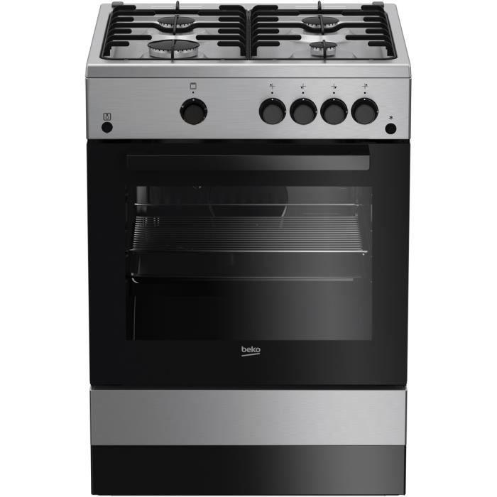 Deux véritables poêles four à gaz Plaque de cuisson cuisinière boutons de contrôle commutateur silver black chrome