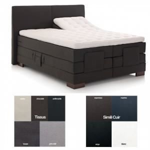 lits boxspring d co lectriques sommier lectrique 2 x 90 x 200 argent relax armorel relax. Black Bedroom Furniture Sets. Home Design Ideas
