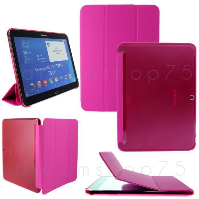 housse coque flip cover samsung galaxy tab 4 10 1 rose. Black Bedroom Furniture Sets. Home Design Ideas