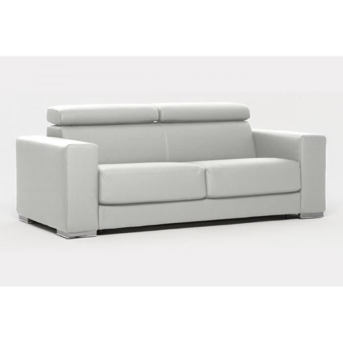 canap convertible expresso simili cuir blanc achat. Black Bedroom Furniture Sets. Home Design Ideas