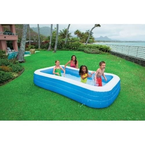 piscine rectangulaire family 3 05m intex achat vente pataugeoire cdiscount. Black Bedroom Furniture Sets. Home Design Ideas