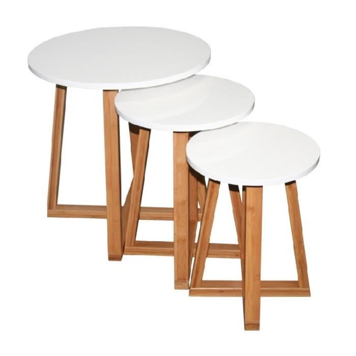 Tables Basses Gigognes Stork Blanc Achat Vente Table Basse