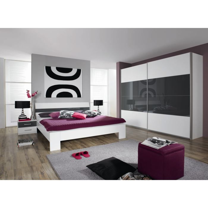 Chambre adulte compl te aubade l 160 x l 200 cm achat for Achat chambre adulte