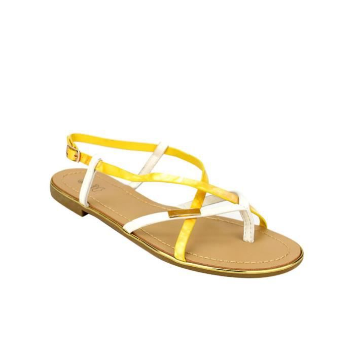 tong, Tongs Jaune Chaussures Femme, Cendriyon