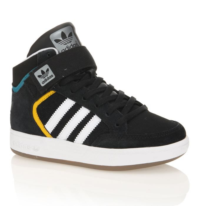 adidas baskets varial mid enfant gar on noir blanc achat vente basket cdiscount. Black Bedroom Furniture Sets. Home Design Ideas