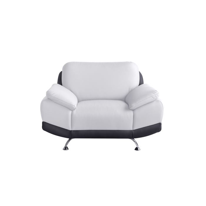 fauteuil moderne imitation cuir blanc anae achat vente fauteuil imitation cuir. Black Bedroom Furniture Sets. Home Design Ideas