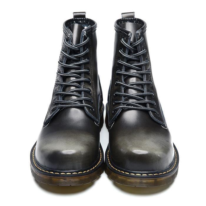 Boots homme Martin de bottines Haute-Top Antidérapant Chaussure Respirant Tête ronde Plusieurs couleurs Taille 38-44 SHT-XZ3032