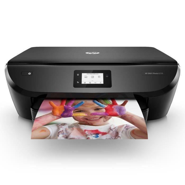 HP Imprimante Tout en un Envy Photo 6230 - Éligible Instant Ink 70% d'économies sur l'encre
