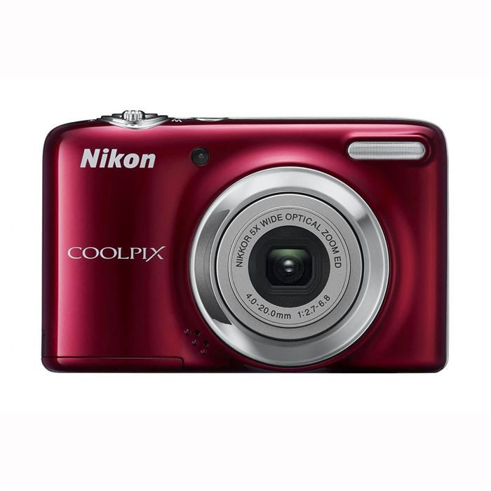 nikon coolpix l25 rouge pas cher achat vente appareil. Black Bedroom Furniture Sets. Home Design Ideas