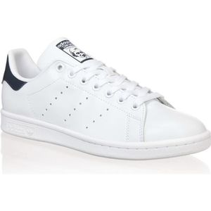 BASKET ADIDAS Baskets Stan Smith - Mixte - Blanc et bleu