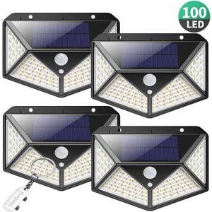 LAMPE DE JARDIN  Lampe Solaire Extérieur 100 led, 4 Pack éclairage