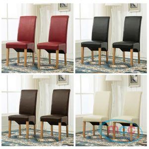CHAISE MCC Lot de 2 chaises de Salle-à-Manger Deluxe en S