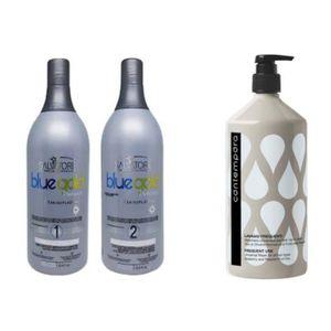DÉFRISAGE - LISSAGE Lissage salvatore blue gold 2*1L +Shampoing SLS gr