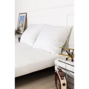 OREILLER oreiller mémoire de forme grand confort tissu mate