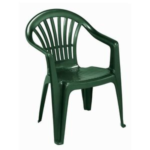 fauteuil de jardin plastique vert achat vente fauteuil de jardin plastique vert pas cher. Black Bedroom Furniture Sets. Home Design Ideas