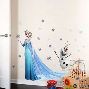 STICKERS STICKER ELSA OLAF FROZEN REINE DES NEIGES 45*60CM