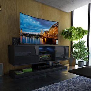 MEUBLE TV Meuble TV / Meuble de salon WIZZ - 140 cm - noir m