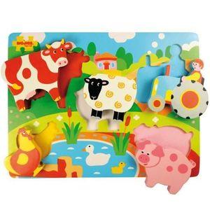 PUZZLE Bigjigs Toys BJ326 Puzzle Ferme - Pièces Épaisses