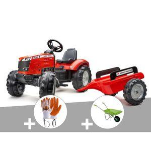 TRACTEUR - CHANTIER Tracteur à pédales Massey Ferguson S8740 rouge + r