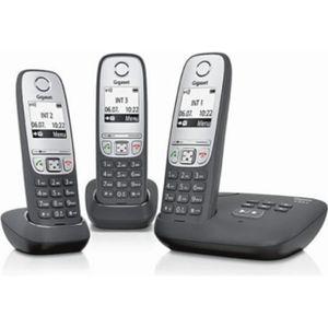 Téléphone fixe les téléphones sans fil Gigaset A415A Trio + répon