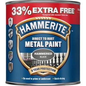 PEINTURE - VERNIS Hammerite Direct To Rust Metal Paint Hammered Fini