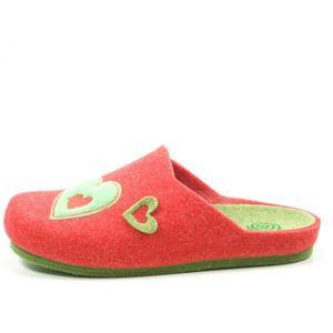 chaussons Cuir amener du taille 41 véritable cuir No-Name Femmes rouge
