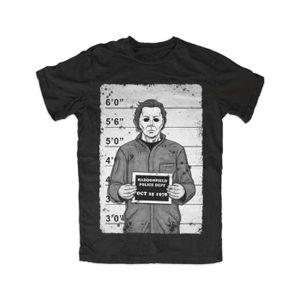 T-SHIRT Myers Mugshot Men's Cotton T-Shirt Halloween,Movie