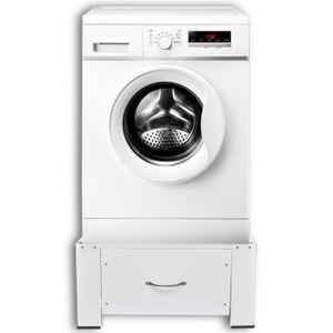 KIT DE SUPERPOSITION Socle pour machine à laver avec tiroir Blanc suppo