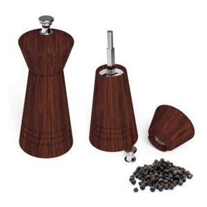 MOULIN DE CUISINE VeoHome Moulin à poivre , sel ou épices en bois -
