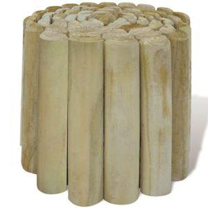 BORDURE Rouleau bordure en bois pour jardin 4 pcs