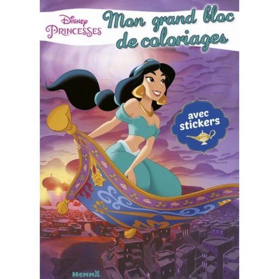 Disney Princesses Jasmine Mon Grand Bloc De Coloriages Avec Stickers Achat Vente Livre Loisirs Creatifs Disney Princesses Jasmine Mon Cdiscount