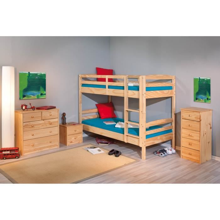 salvador lit superpos enfant en pin massif achat. Black Bedroom Furniture Sets. Home Design Ideas