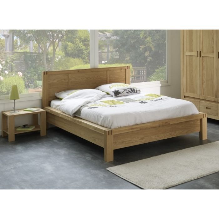nathan lit adulte 160 x 200 cm en ch ne about achat. Black Bedroom Furniture Sets. Home Design Ideas