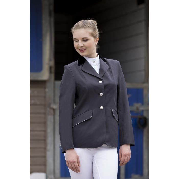 EQUI THEME Veste de concours Equitation Femme Gris Argent
