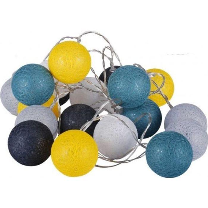 Guirlande Lumineuse Led sur Secteur Multicolore - Bleu, Jaune, Gris 0,000000