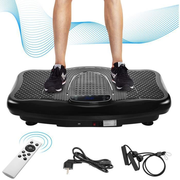 Plateforme plaque vibrante avec 4 Programmes de Fitness-180 niveaux de vitesse-150 kg max- Bluetooth sans fil-Vibration 2D Wipp