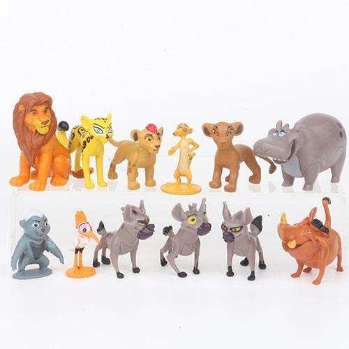 Dessin animé Lion gardien roi Kane Simba PVC action poupée classique 4 cm personnage meilleur cadeau de Noël / ensemble de 12 pièces