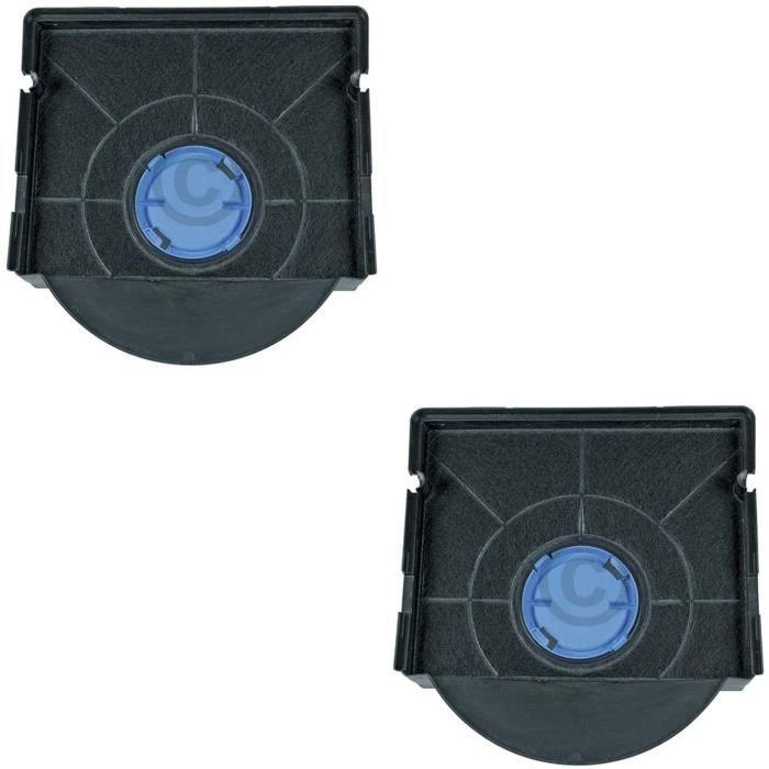 DLpro Lot de 2 filtres agrave charbon actif pour hotte Bauknecht Whirlpool 48400008581 Wpro CHF303 Type 303HOTTE 80