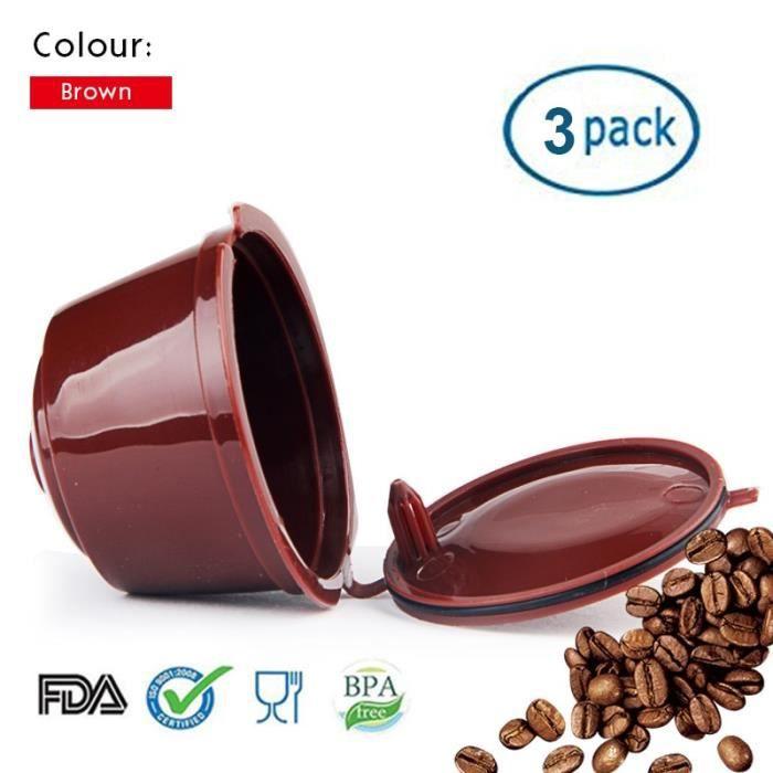Petit déjeuner - Café,Capsules de Nescafe Dolce Gusto, livraison directe pour 3 pièces réutilisables, filtre - Type brown