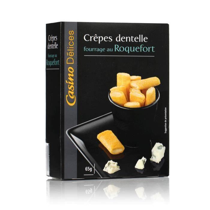 CASINO Dél. Crêpes Dentelle Fourrage Roquefort 65g