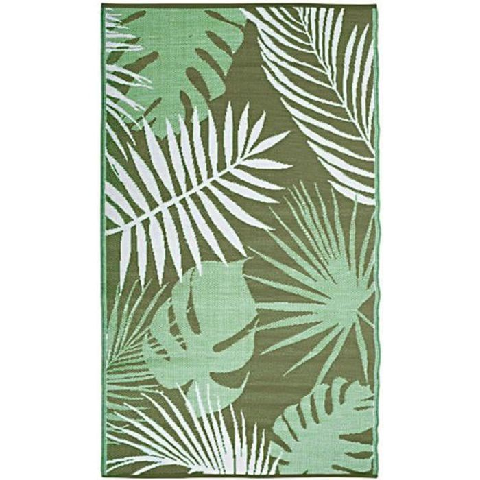 Tapis de jardin Tropic 241 x 152 cm Blanc,Vert