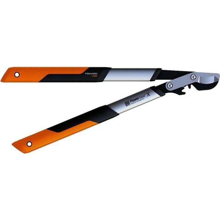 FISKARS Coupe-branches Powergear X™ S à crémaillère et à lame franche 55cm Ø 40mm