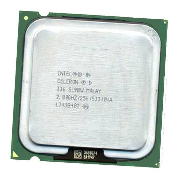 Processeur CPU Intel Celeron Dual Core 336 2.8Ghz 256Ko 533Mhz LGA775 SL98W Pc