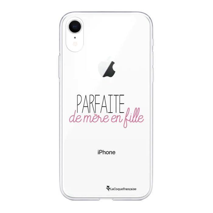 Coque iPhone Xr 360 intégrale Parfaite de mère en fille Ecriture Tendance Design La Coque Francaise