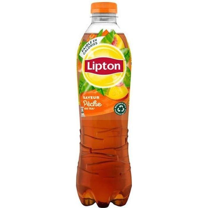 LOT DE 4 - LIPTON : Ice tea - Boisson aux extraits de thé arôme pêche 1,5 L